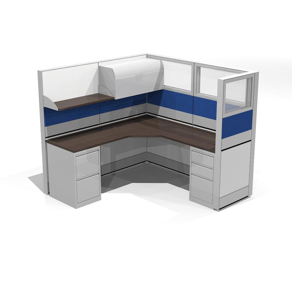 kenosha office cubicles. Modern Office Cubicle   Contemporary L-shape Workstation Seats 1 6X6X65 Kenosha Cubicles B